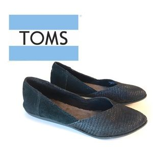 Toms Black Jutti ballet flats with pointed toe 5.5